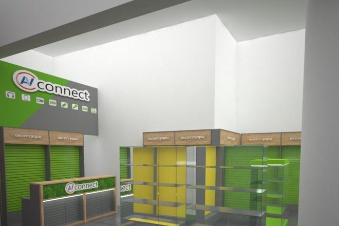 Визуализация торгового помещения, островка 16 - kwork.ru