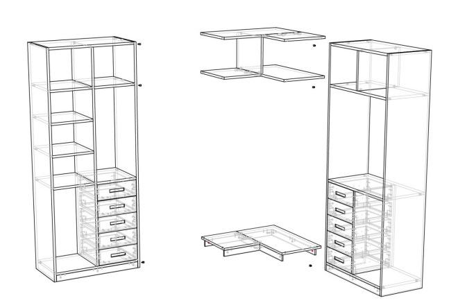 Конструкторская документация для изготовления мебели 52 - kwork.ru