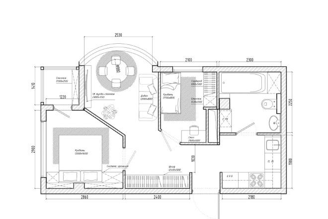 Планировочное решение вашего дома, квартиры, или офиса 18 - kwork.ru