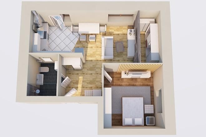 Создам планировку дома, квартиры с мебелью 57 - kwork.ru