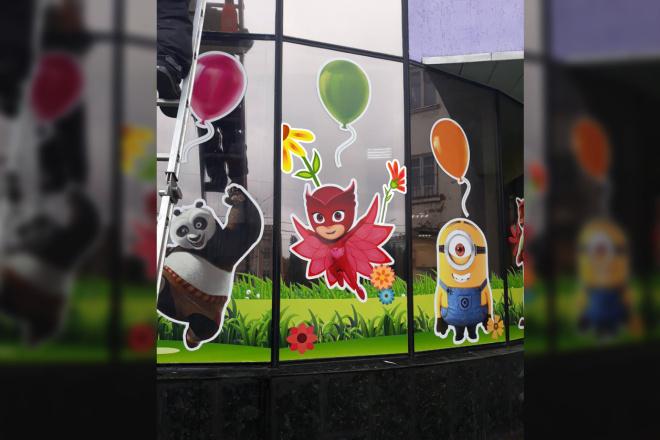 Дизайн рекламной наклейки на стекло, витрину 28 - kwork.ru
