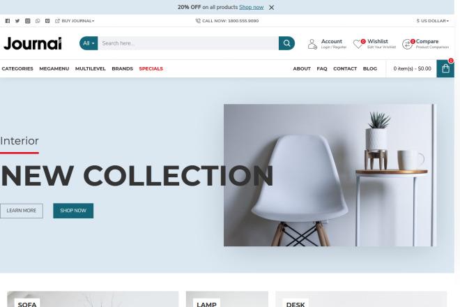 Разверну интернет-магазин на OpenCart OcStore+ установлю к нему шаблон 25 - kwork.ru
