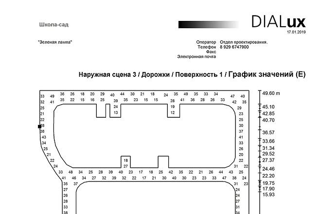 Простой светотехнический расчет в Диалюкс 1 - kwork.ru