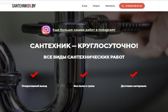 Скопирую одностраничный сайт, лендинг 24 - kwork.ru