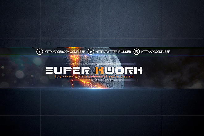 Шапка для Вашего YouTube канала 115 - kwork.ru