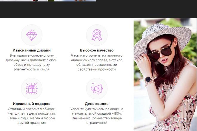 Качественная копия лендинга с установкой панели редактора 48 - kwork.ru