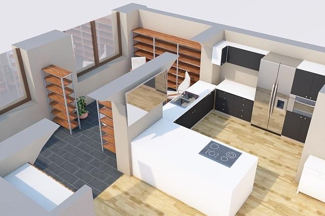 Создам планировку дома, квартиры с мебелью 54 - kwork.ru