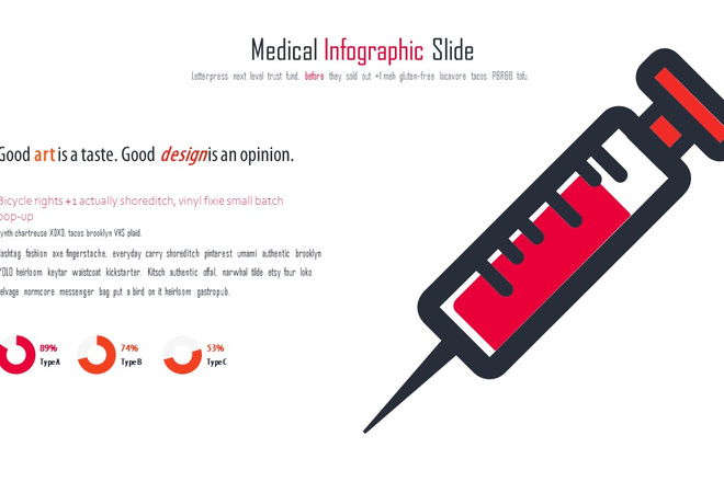 Инфографика на медицинскую тему. Шаблоны PowerPoint 21 - kwork.ru