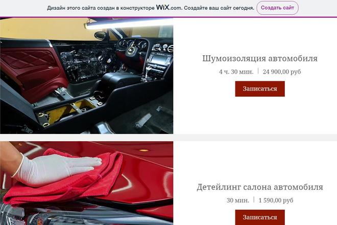 Создание сайтов на конструкторе сайтов WIX, nethouse 58 - kwork.ru