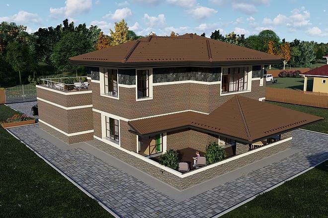 Фотореалистичная 3D визуализация экстерьера Вашего дома 191 - kwork.ru