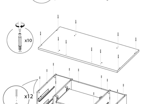 Схема, инструкция сборки мебели 14 - kwork.ru