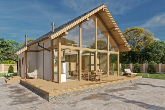 Фотореалистичная 3D визуализация экстерьера Вашего дома 15 - kwork.ru