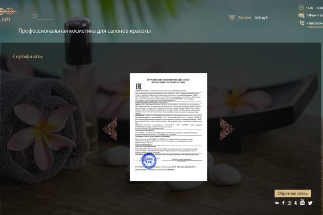Дизайн страницы сайта в PSD 1 - kwork.ru