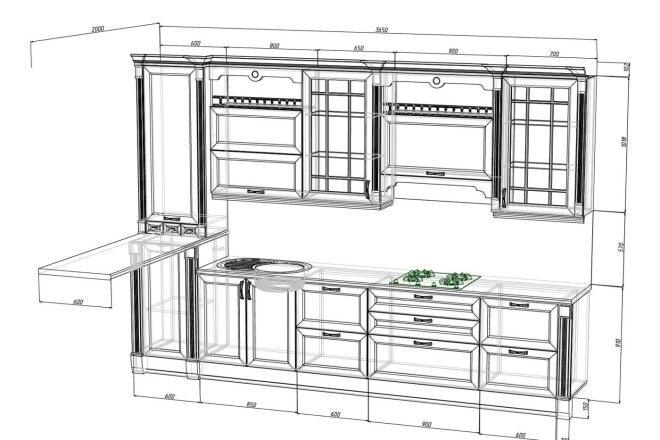 Проект корпусной мебели, кухни. Визуализация мебели 35 - kwork.ru