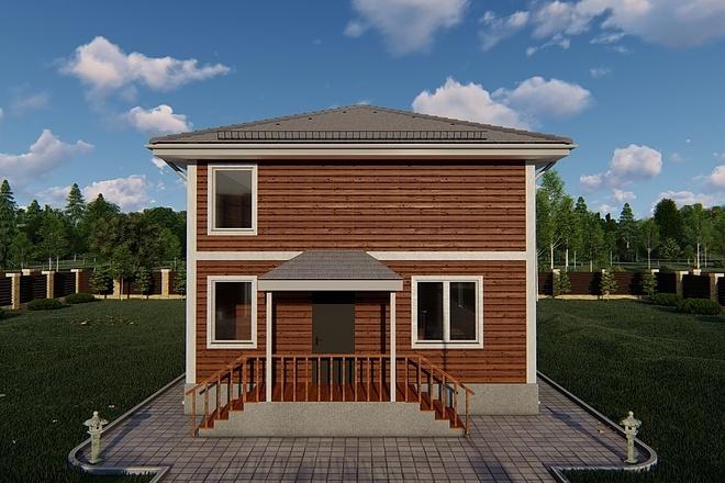 Фотореалистичная 3D визуализация экстерьера Вашего дома 139 - kwork.ru