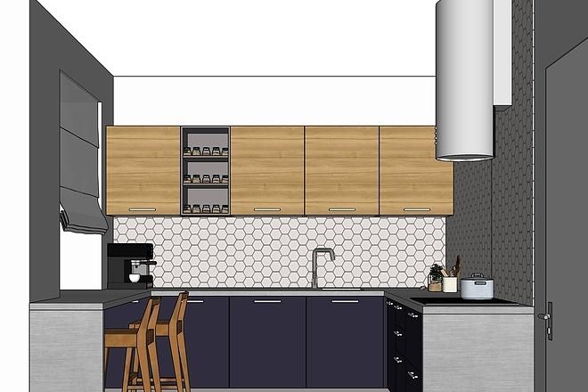 Дизайн-проект кухни. 3 варианта 13 - kwork.ru