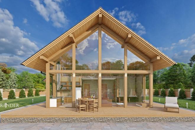 Фотореалистичная 3D визуализация экстерьера Вашего дома 11 - kwork.ru