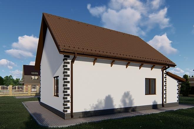 Фотореалистичная 3D визуализация экстерьера Вашего дома 131 - kwork.ru