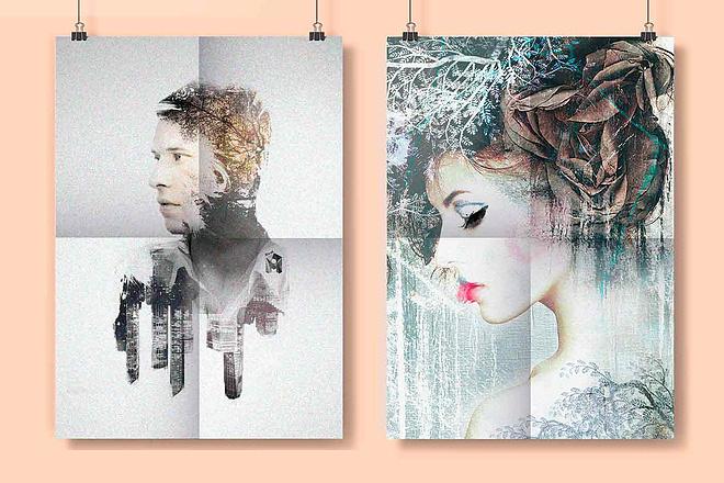 Создам ваш портрет с эффектом двойной экспозиции 1 - kwork.ru