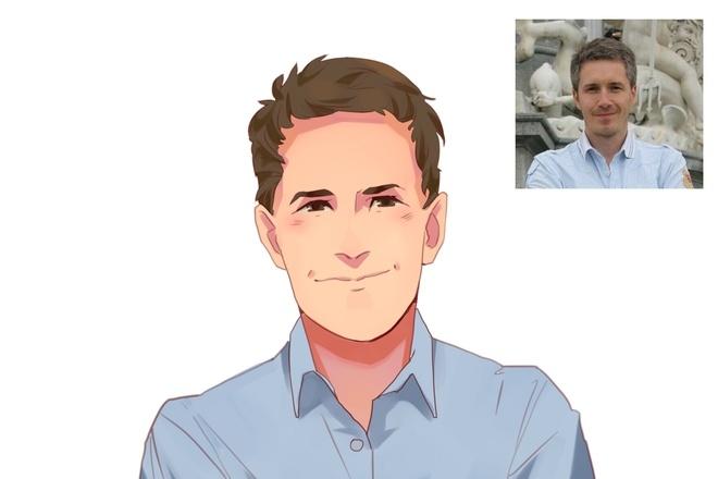 Создам ваш портрет в стиле аниме 28 - kwork.ru
