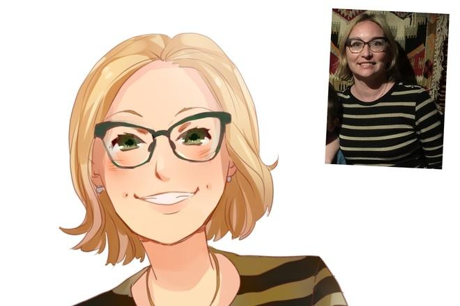 Создам ваш портрет в стиле аниме 27 - kwork.ru