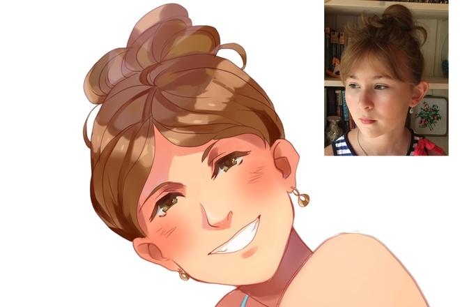 Создам ваш портрет в стиле аниме 26 - kwork.ru