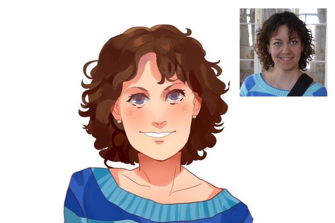 Создам ваш портрет в стиле аниме 25 - kwork.ru