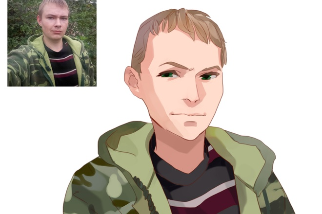 Создам ваш портрет в стиле аниме 24 - kwork.ru