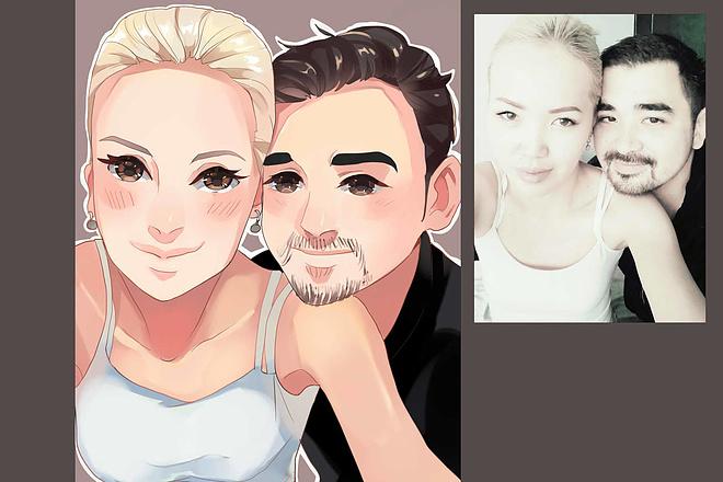 Создам ваш портрет в стиле аниме 21 - kwork.ru