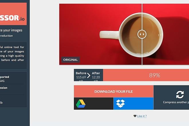 Сожму и оптимизирую 2500 изображений для быстрой загрузки сайта 4 - kwork.ru