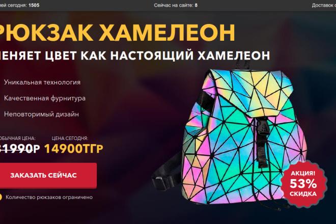 Скопирую страницу любой landing page с установкой панели управления 37 - kwork.ru