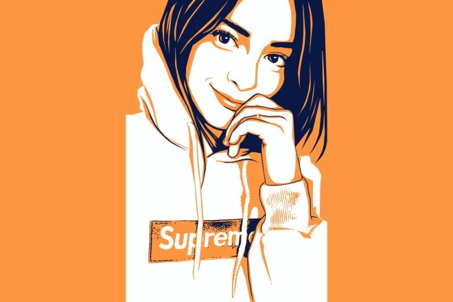 Качественный поп-арт портрет по вашей фотографии 5 - kwork.ru