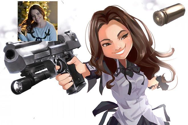 Создам ваш портрет в стиле аниме 12 - kwork.ru