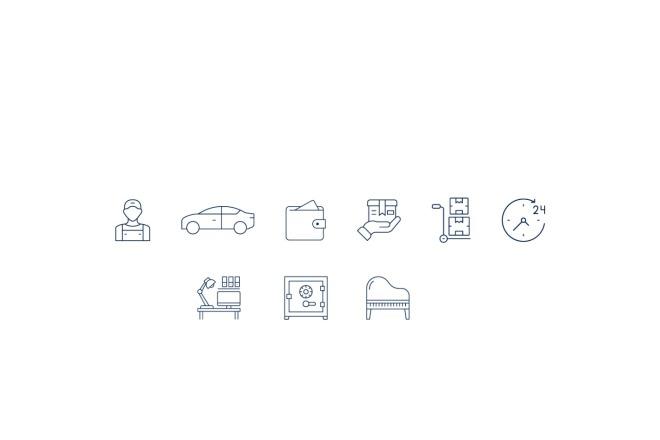Создам 5 иконок в любом стиле, для лендинга, сайта или приложения 19 - kwork.ru