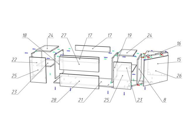 Конструкторская документация для изготовления мебели 34 - kwork.ru
