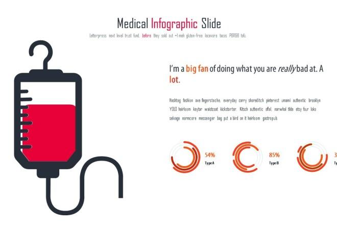Инфографика на медицинскую тему. Шаблоны PowerPoint 22 - kwork.ru