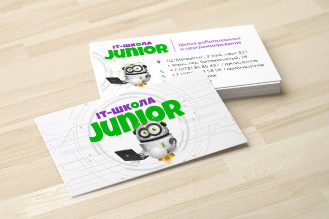 Дизайн визитки с исходниками 55 - kwork.ru