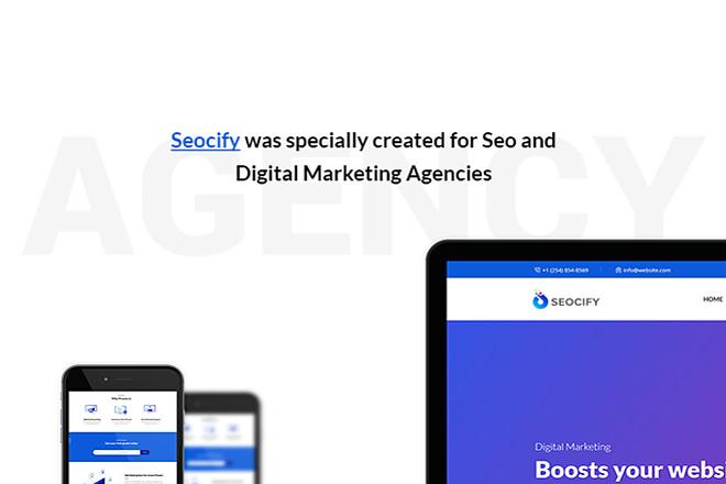 Шаблон SEO и агентства цифрового маркетинга с визуальным редактором 8 - kwork.ru