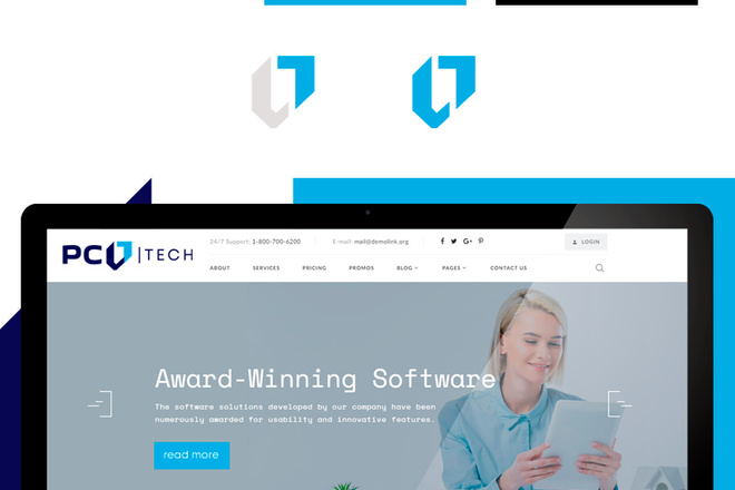 Разработка логотипа для сайта и бизнеса. Минимализм 48 - kwork.ru