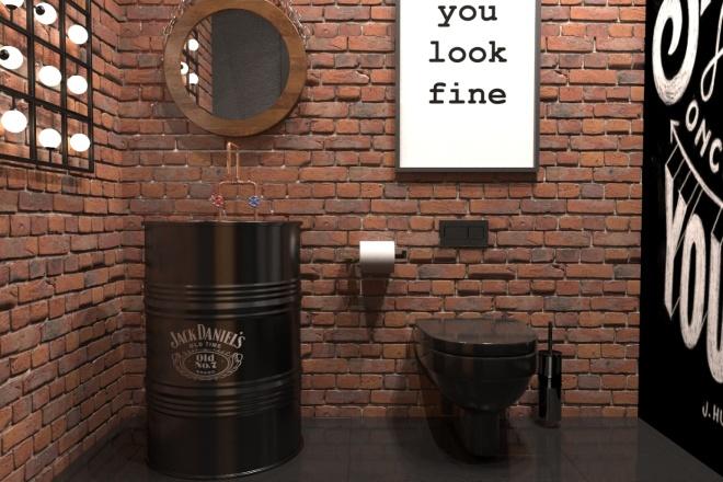 Создам визуализацию дизайна кафе, бара, шаурмечной 3 - kwork.ru