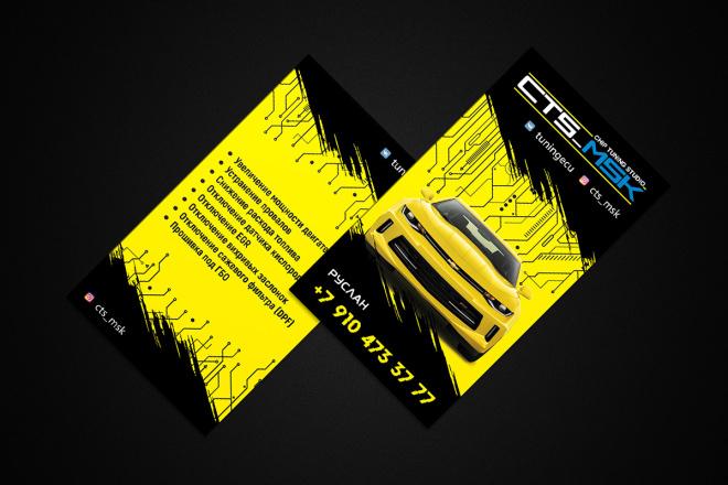 Дизайн визитки с исходниками 68 - kwork.ru