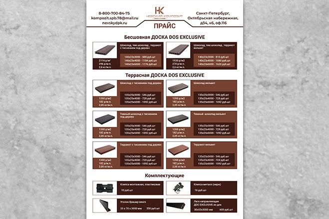 Дизайн листовки, флаера. Макет готовый к печати 11 - kwork.ru