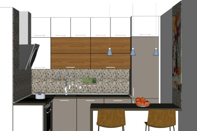Дизайн-проект кухни. 3 варианта 7 - kwork.ru