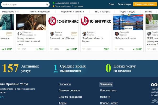 Создам биржу фриланса под ключ 1 - kwork.ru