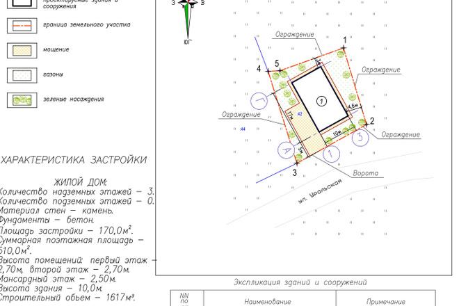 Схема планировочной организации земельного участка - спозу 8 - kwork.ru