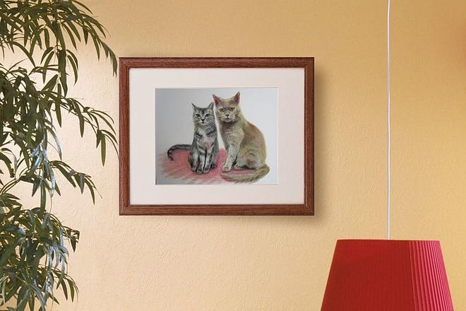 Портрет Ваших домашних любимцев. Только ручная работа 1 - kwork.ru