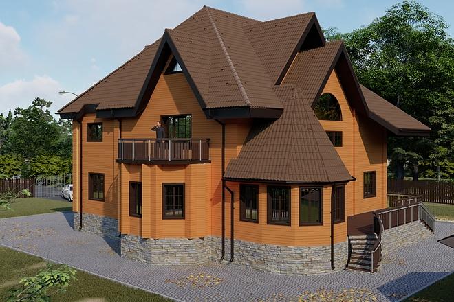 Фотореалистичная 3D визуализация экстерьера Вашего дома 156 - kwork.ru