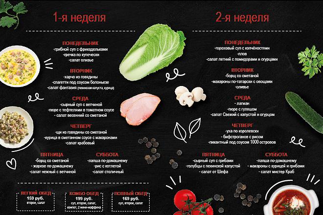 Дизайн меню для кафе, ресторанов, баров и салонов красоты 12 - kwork.ru