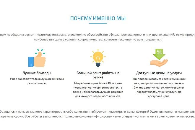 Сайт под ключ. Landing Page. Backend 253 - kwork.ru