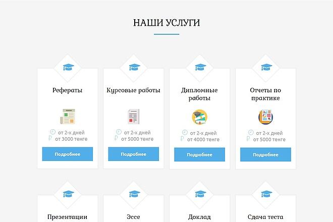 Сайт под ключ. Landing Page. Backend 240 - kwork.ru